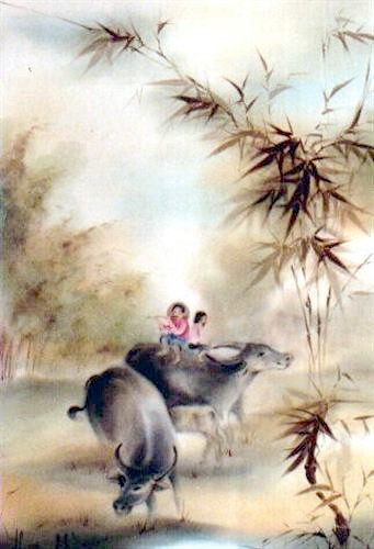 Vietnam Silk Painting